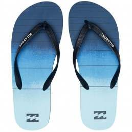 Billabong Tides 73 Stripe Flip Flops navy blue fade summer slaps slides beach shoes holiday