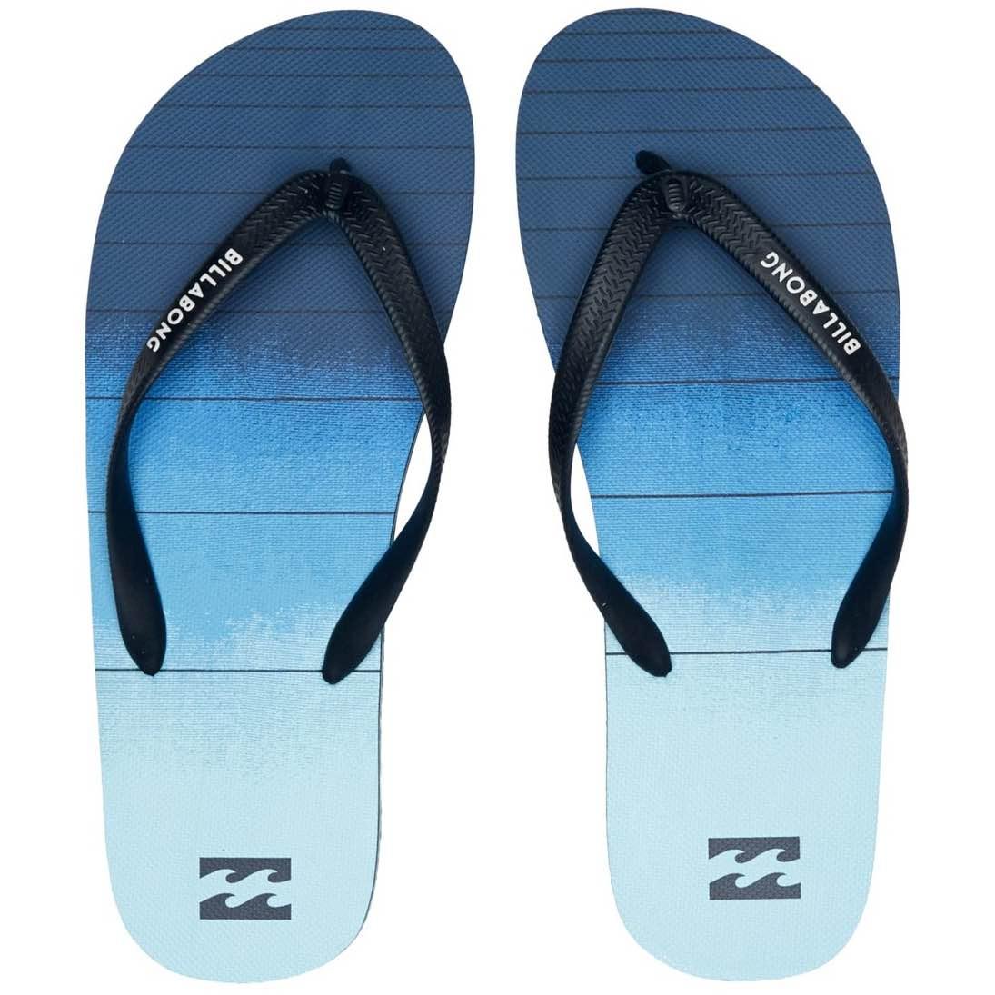 Billabong Tides 73 Stripe Flip Flops navy blue fade summer slaps slides beach shoes holiday