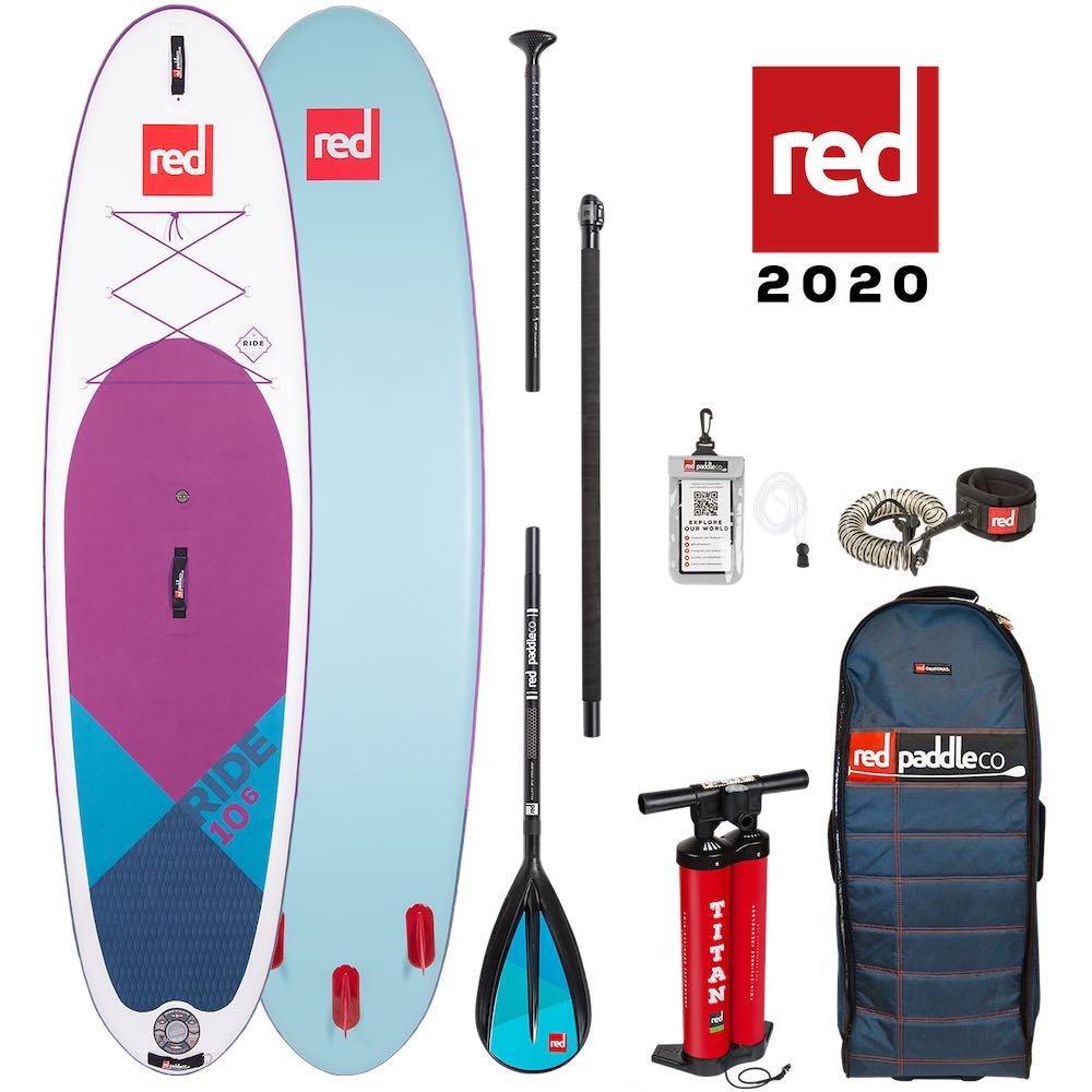 Red Paddle Co 10'6 Ride Special Edition SE purple deck SUP Stand Up Paddle board package deal new 2020 paddleboard paddling world's best isle of wight south coast iow uk earth wind water alloy carbon 50 100 nylon