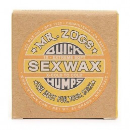 Sex Wax Quick Humps X-Cold to Cold Yellow. Plastic free recyclable packaging cardboard box. Cold water surfing Shanklin Freshwater Compton Isle of Wight, UK Earth Wind Water