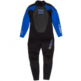 Billabong Kids Junior Infant Childrens Intruder Wetsuit black blue royal. Flat lock flatlock warm reinforced childrens wet suit spring summer winter cheap deal best value
