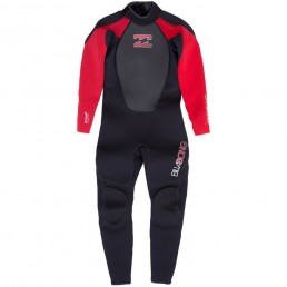 Billabong Kids Junior Intruder Wetsuit black red. 3mm 3/2mm Flat lock flatlock warm reinforced childrens wet suit spring summer winter cheap deal best value