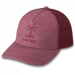 Dakine Shoreline Trucker Hat Womens girls Cap faded grape red purple plum washed out mesh back adjustable snap back surf surfer girl IOW
