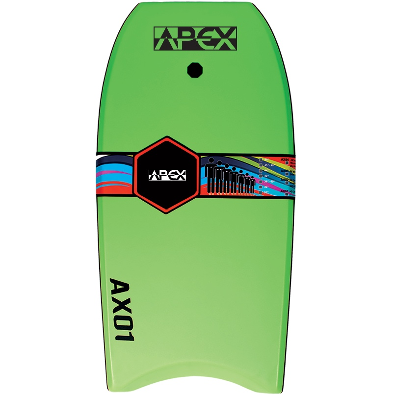 Apex Bodyboard Lime Green Black. Alder Hoax