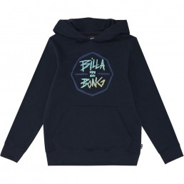 Kids Boys Girls Billabong Octo Hood hoodie hoody hooded sweater navy blue little surfer dude 50 learn to surf isle of wight uk