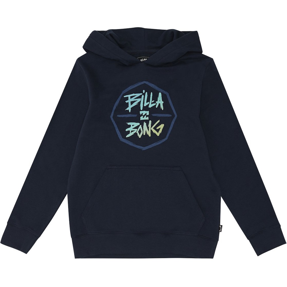 Kids Boys Girls Billabong Octo Hood hoodie hoody hooded sweater navy blue little surfer dude 50 learn to surf isle of wight uk