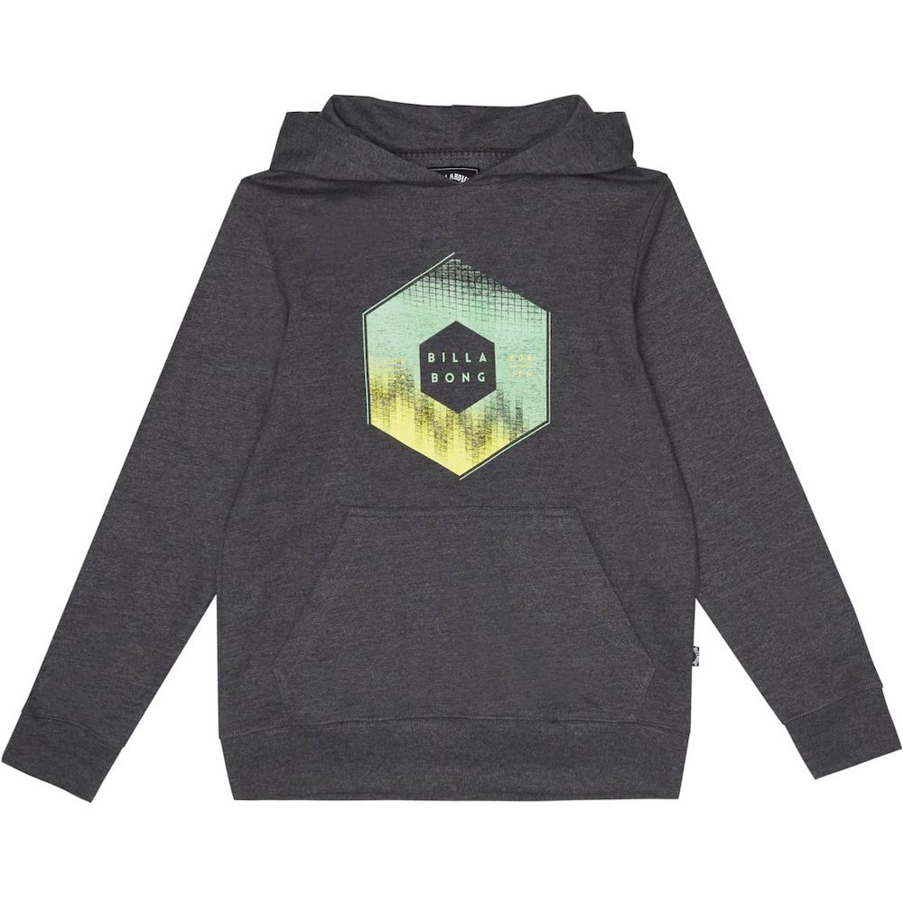 Kids Boys Girls Billabong X-Cess Hood hoodie hoody hooded sweater Black heather grey green yellow little surfer dude learn to surf isle of wight uk
