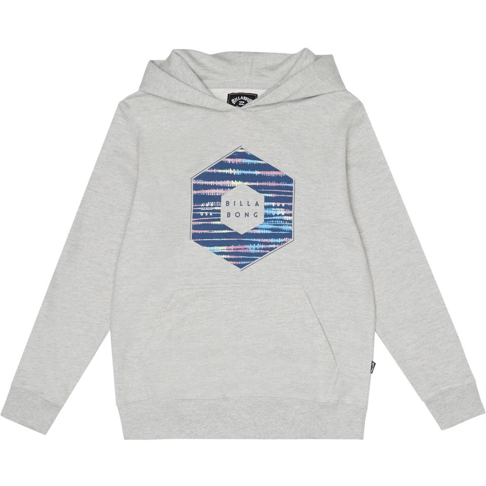 Kids Boys Girls Billabong X-Cess Hood hoodie hoody hooded sweater grey heather navy blue little surfer dude learn to surf isle of wight uk