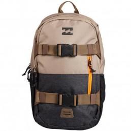 Billabong Command Skate Pack Backpack rucksack bag luggage skateboard surfing straps folder sport gym holdall khaki brown black grey