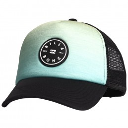 Billabong Kids Boys Girls Unisex Scope Trucker Cap. Citrus blue yellow black circle logo mesh adjustable snap back