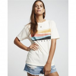 Billabong Pipe Dream T-Shirt Salt Crystal graphic print white cream sunset surf surfer girl boy fit over sized baggy tee top