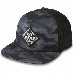 Da Kine Dakine DK Classic Diamond Trucker Hat Dark Ashcroft Camo. Black grey flat brim mesh adjustable snap back