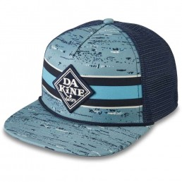 Da Kine Dakine DK Classic Diamond Trucker Hat Nepp Stripe. Blue black flat brim mesh adjustable snap back