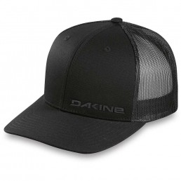 Dakine DK Rail Trucker Hat mens womens unisex all black mesh snap back subtle work