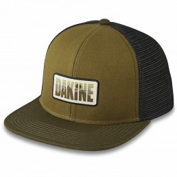 Da Kine Dakine DK Skyline sky line trucker hat dark olive green black nightsky navy blue adjustable snap back flat brim woven label hat mens womens kids unisex