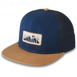 Da Kine Dakine DK Skyline sky line trucker hat dark olive green nightsky navy blue adjustable snap back flat brim woven label hat mens womens kids unisex