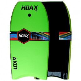 Hoax AX01 Bodyboard Lime Green Black leash slick bottom reinforced Isle of Wight UK delivery New Alder Force