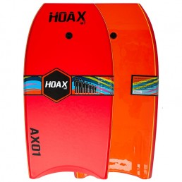Hoax AX01 Bodyboard Red Orange leash slick bottom reinforced Isle of Wight UK delivery New Alder Force