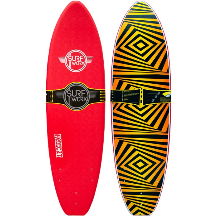 Surfworx Hellcat Mini Mal 6'0 Soft Surfboard Red learn to surf Isle of Wight