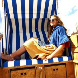 "Whether on the beach, at the pool, after a shower or just lounging around at home our poncho will always keep you comfortable and warm, as well as being the perfect ""mobile changing room"" when getting in and out of your swimwear or wetsuit! Towel changing robe."