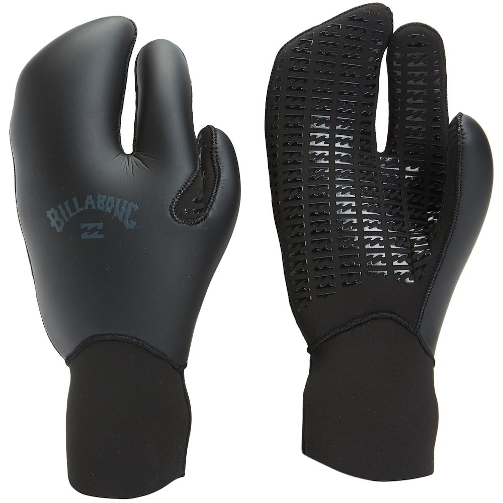 Billabong neoprene wetsuit gloves 5mm smooth skin wind proof