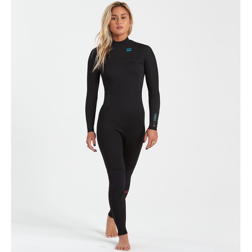 Billabong 2021 Synergy Back Zip 5/4mm Womens Wetsuit. Ladies neoprene steamer