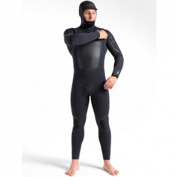 CSkins 2021 5/4mm Wired Hooded Winter Steamer Wetsuit. Warm, flexible, Halo X RD8 Neoprene. Cold water surfing Isle of Wight. Earth Wind Water