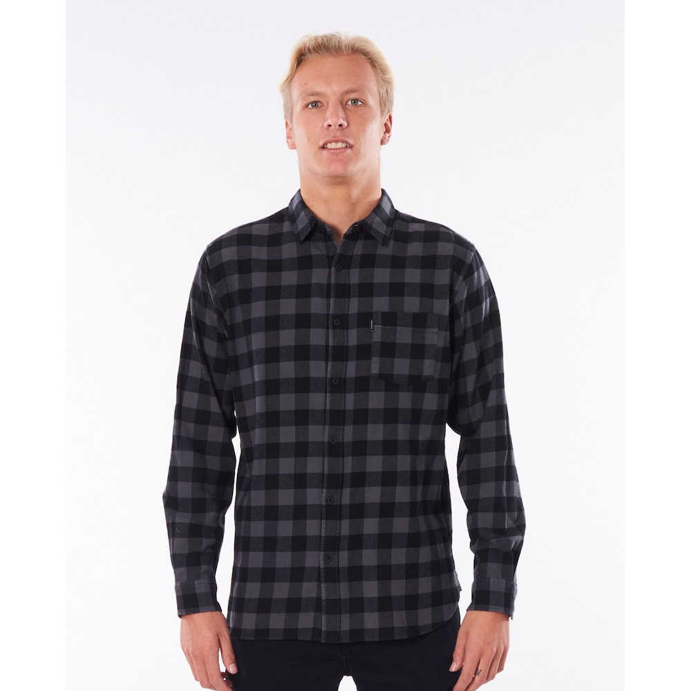 RipCurl Check This checked shirt black. Perfect christmas gift for a surfer