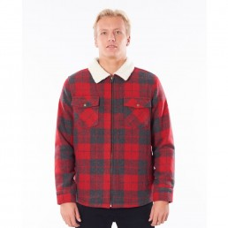 RipCurl Sherpa Logging Jacket red check. Rip Curl Earth Wind Water, Isle of Wight