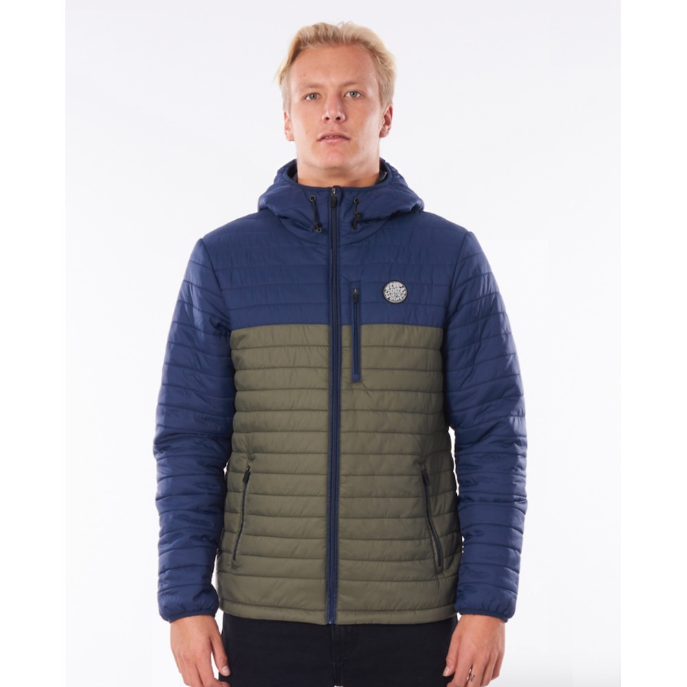 Rip Curl Melting Jacket Navy blue green Black, Anti Series, water repellent, wind proof