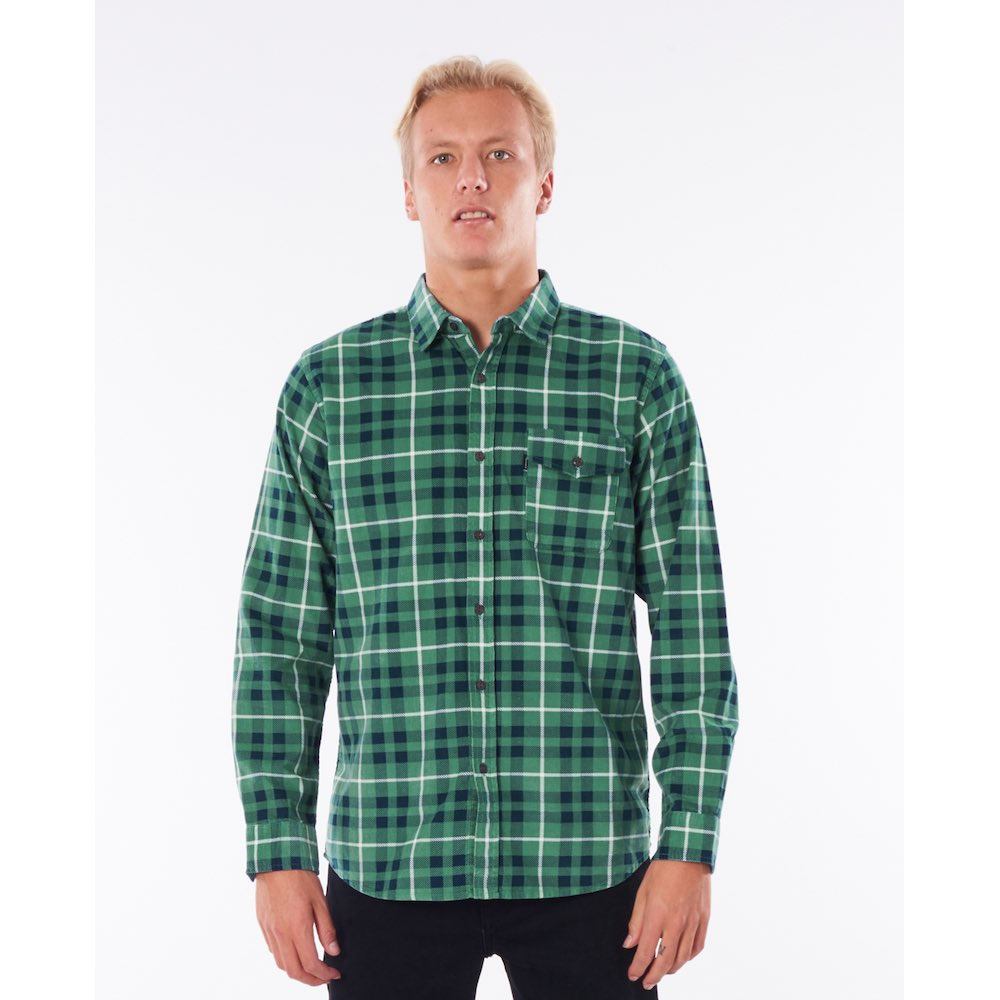RipCurl Return checked shirt navy green. Perfect christmas gift for a surfer