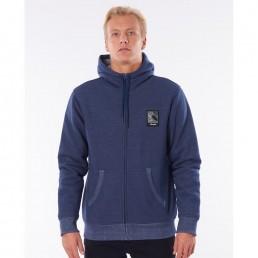 Rip Curl Agile Navy blue hoody, zip hooded fleece hoodie