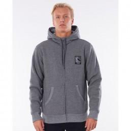 Rip Curl Agile grey hoody, zip hooded fleece hoodie