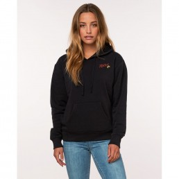 Rip Curl womens Aulavik Fleece Hoodie. Dark grey, charcoal, black hoody