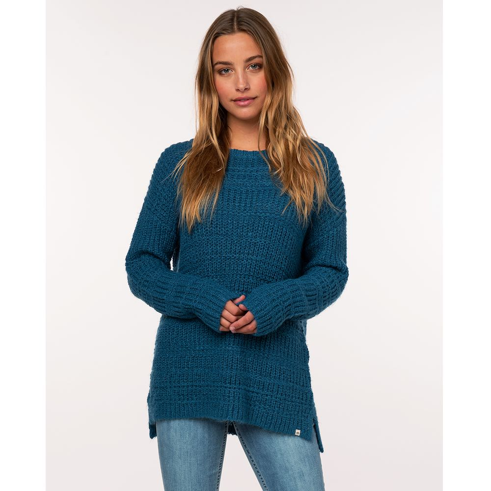 RipCurl cosy knitted jumper, teal blue, winter, christmas