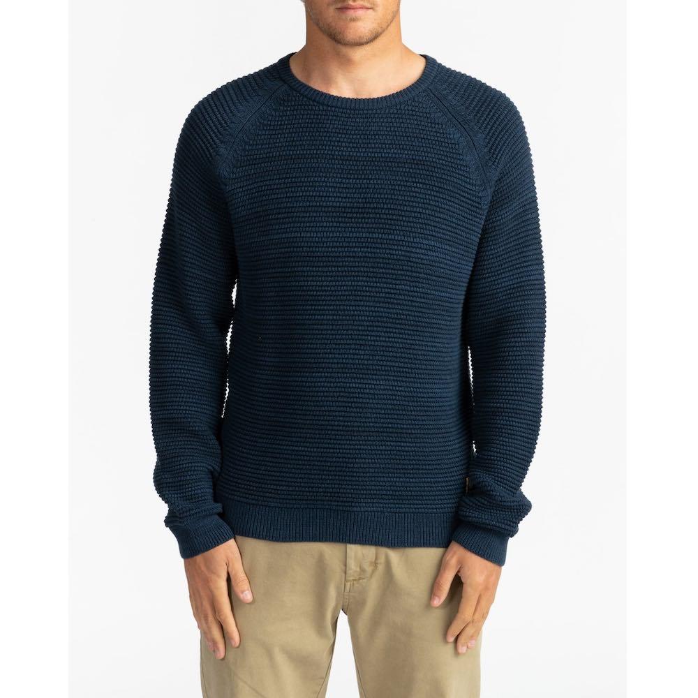 Billabong Broke Sweater. Navy Grey. Mens knitted jumper