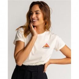 Billabong EScape short sleeve tshirt surfer girl surfwear geometric triangle back print boyfriend baggy fit isle of wight surf shop earth wind water