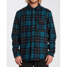 Billabong mens check shirt warm polar fleece water repellent. Pacific blue surf clothes isle of wight uk