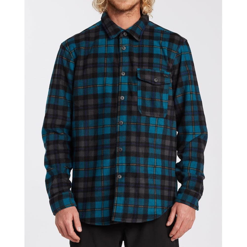 Billabong mens check shirt warm polar fleece water repellent. Pacific blue surf clothes isle of wight uk