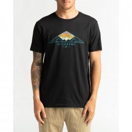 Billabong mens blue black tshirt, surfer mountain adventure sunset peaks mount mt cayley. Surfing uk isle of wight surf shop.
