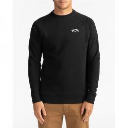 Billabong Original Acher Sweatshirt for men. Black, Dark Royal Blue. Surf surfing isle of wight uk cool fashion clothes clothing