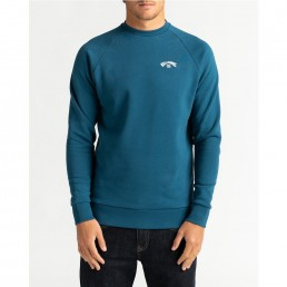 Billabong Original Acher Sweatshirt for men. Black, Dark Royal Blue. Surf surfing isle of wight uk cool fashion clothes clothing