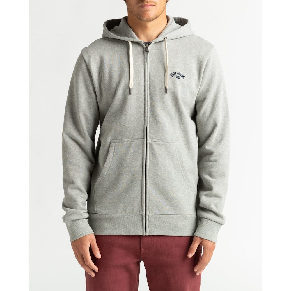 Billabong zip through hoody black grey zip hoodie