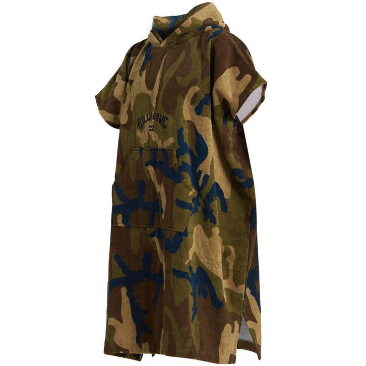 Billabong changing robe hooded beach towel Black grey tie dye military green camo, pouch pocket. Surf IOW surfing uk independent shop