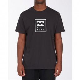 Billabong logo tshirt tee vertical stacked unity white black surfwear surf iow