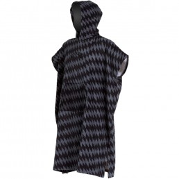 Billabong Grey Diamonds black pattern zig zag stripe hooded changing towel robe poncho pocket