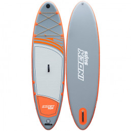 10'6 Inflatable Stand Up Paddle Board Alder Index Grey Orange Isle of Wight